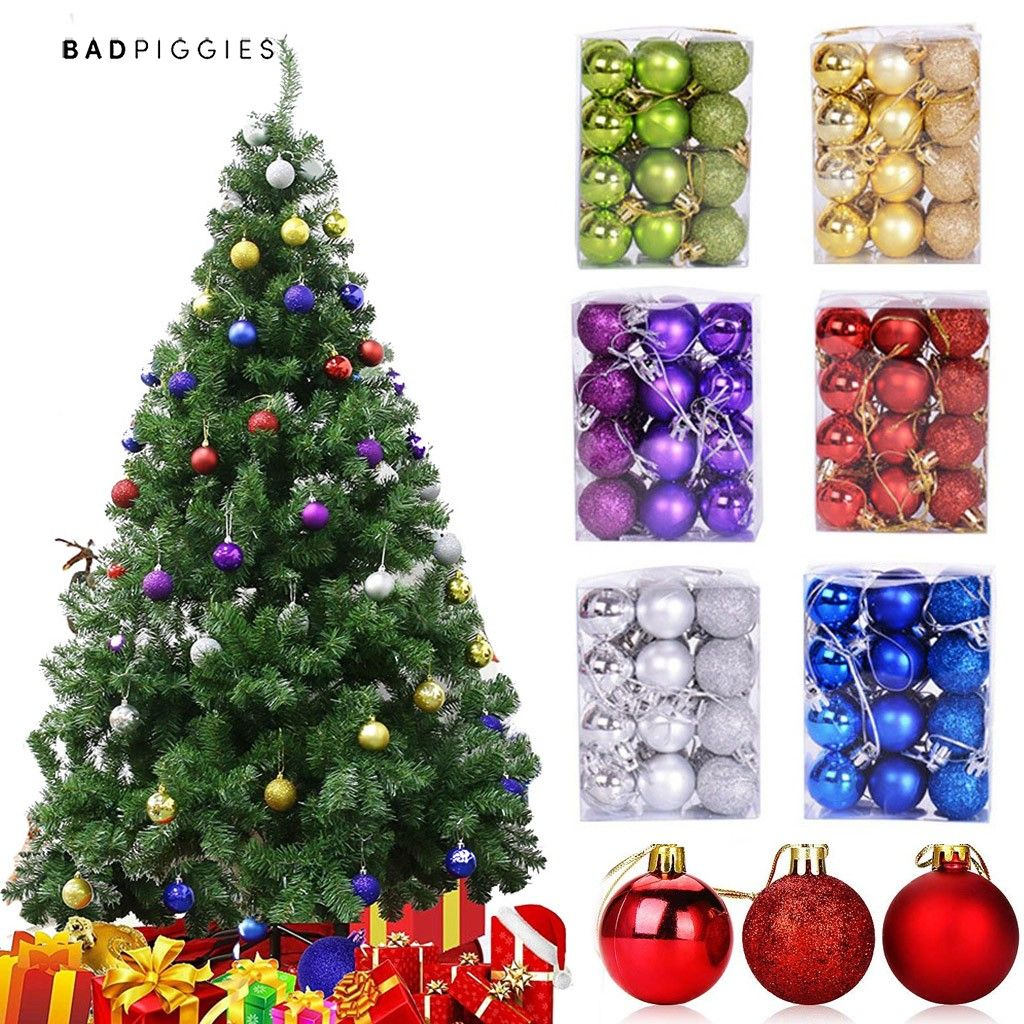 Ornaments Home Cf Collection Shatterproof Christmas Tree Ball Ornaments In Teal Blue Silver And Plum 60mm Set Of 16