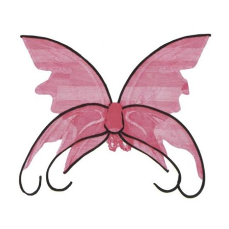 Wings Butterfly Pink with Black - Real Butterfly Wings For Sale