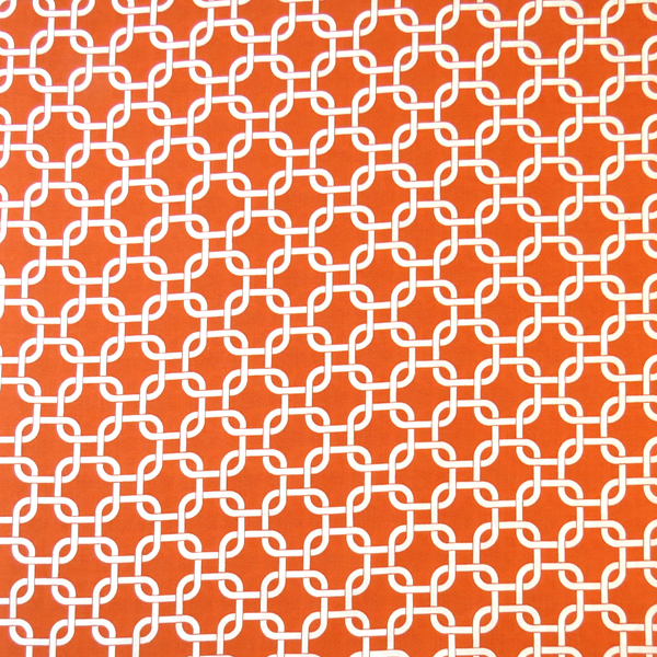 SheetWorld Fitted Portable / Mini Crib Sheet - Orange Links