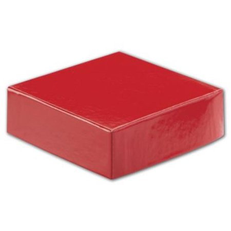 Deluxe Small Business Sales L4-586 4 x 4 inch Hi-Wall Gift Box Lid, Red