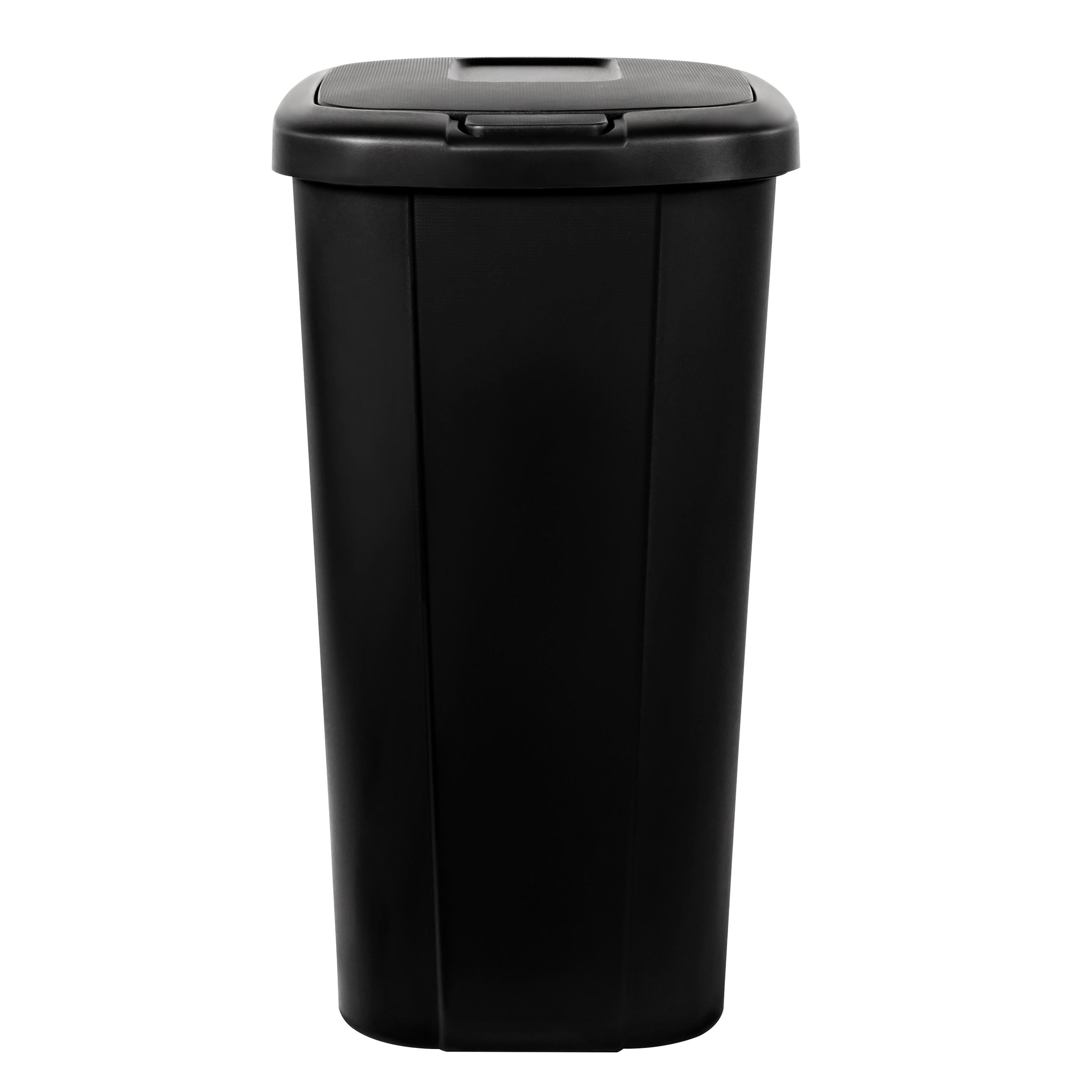 Trash Can 13.3 Gallon Touch-Lid Plastic Kitchen Garbage Recycle Bin Black