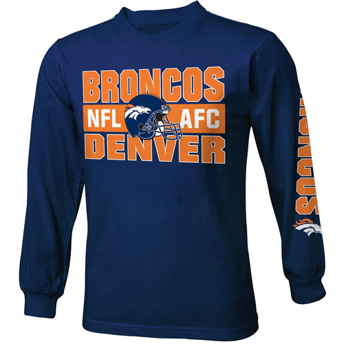 Nfl Boys' Denver Broncos Long Sleeve Tee