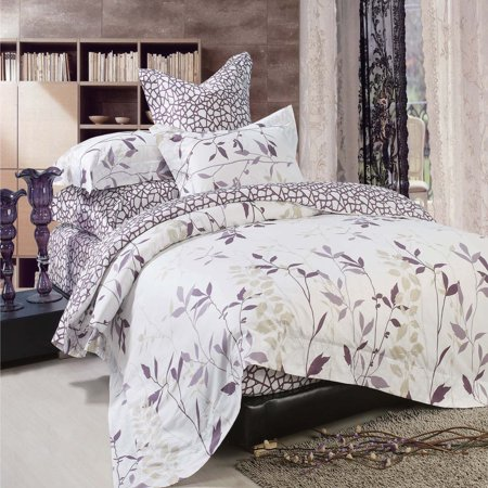 North Home Iris 100% Cotton 4pc Duvet Cover Set Queen - image 1 of 1