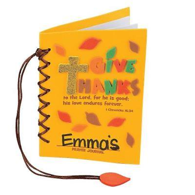 IN-13660024 Give Thanks Prayer Journal Craft Kit Makes 12