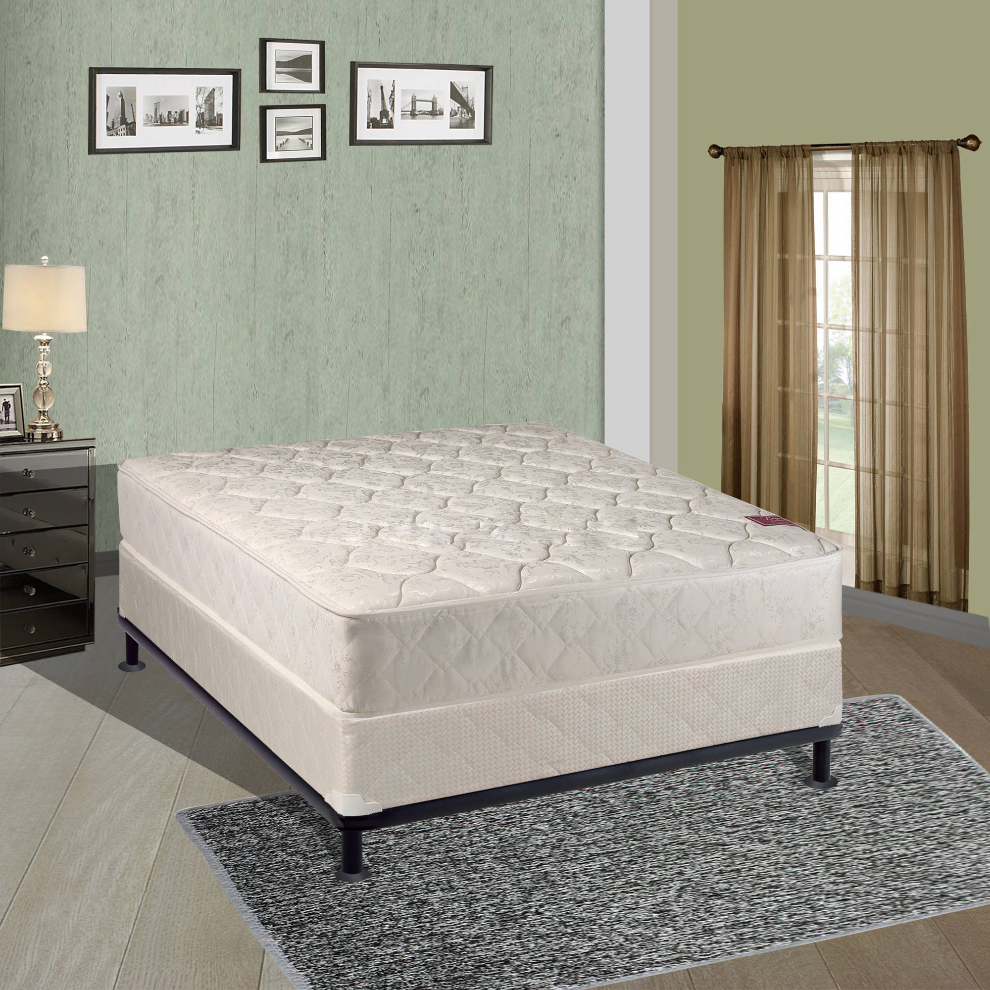 "Continental Sleep 8"" Fully Assembled Orthopedic Mattress and Box Spring, Multiple Sizes by Continental Sleep"