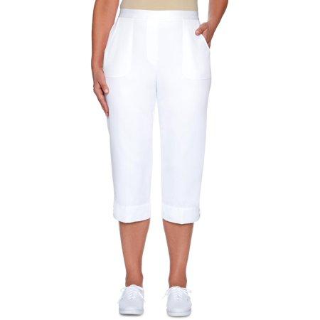 Alfred Dunner Capri Pants - Alfred Dunner Womens America's Cup Lace Trim High Rise Capri Pants