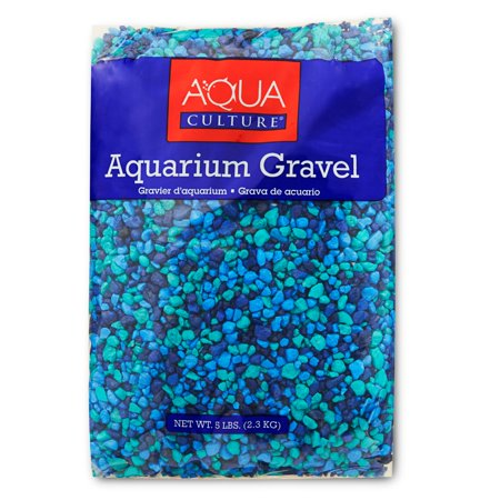 (2 Pack) Aqua Culture Aquarium Gravel, Blue, 5 lb