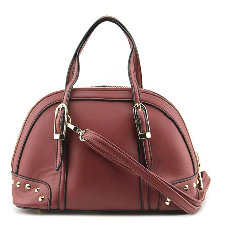 MG Collection Irina Mini Studded Satchel    Synthetic  Satchel