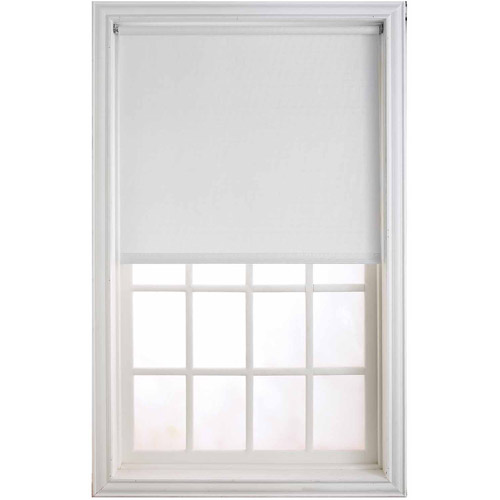 "Newell Window Fashions 37"" x 78"" White Heavy Weight Room Darkening Filter"