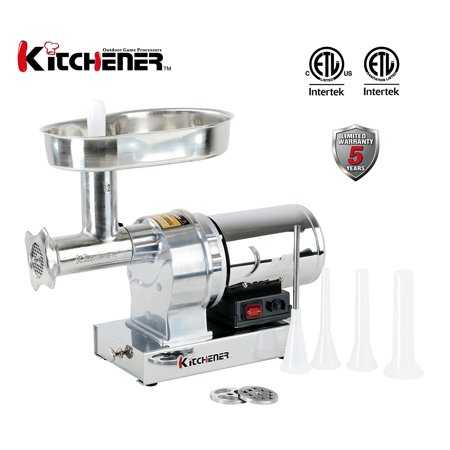 550w Meat Grinder (Kitchener #12 Commercial Grade Electric Stainless Steel Meat Grinder 3/4 HP (550W), (720-lbs Per Hour) )