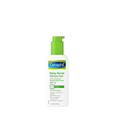 (2 Pack) Cetaphil Daily Facial Moisturizer Broad Spectrum SPF15, Fragrance Free, 4 Fl (Best Moisturizer With Spf 50)