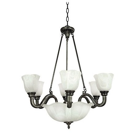 Yosemite Home Decor Mahogany 9 Light Chandelier Walmartcom