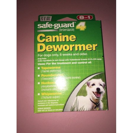 8In1 Safe Guard Safeguard Dog Dewormer Canine Dogs Large Puppies Pet Wormer