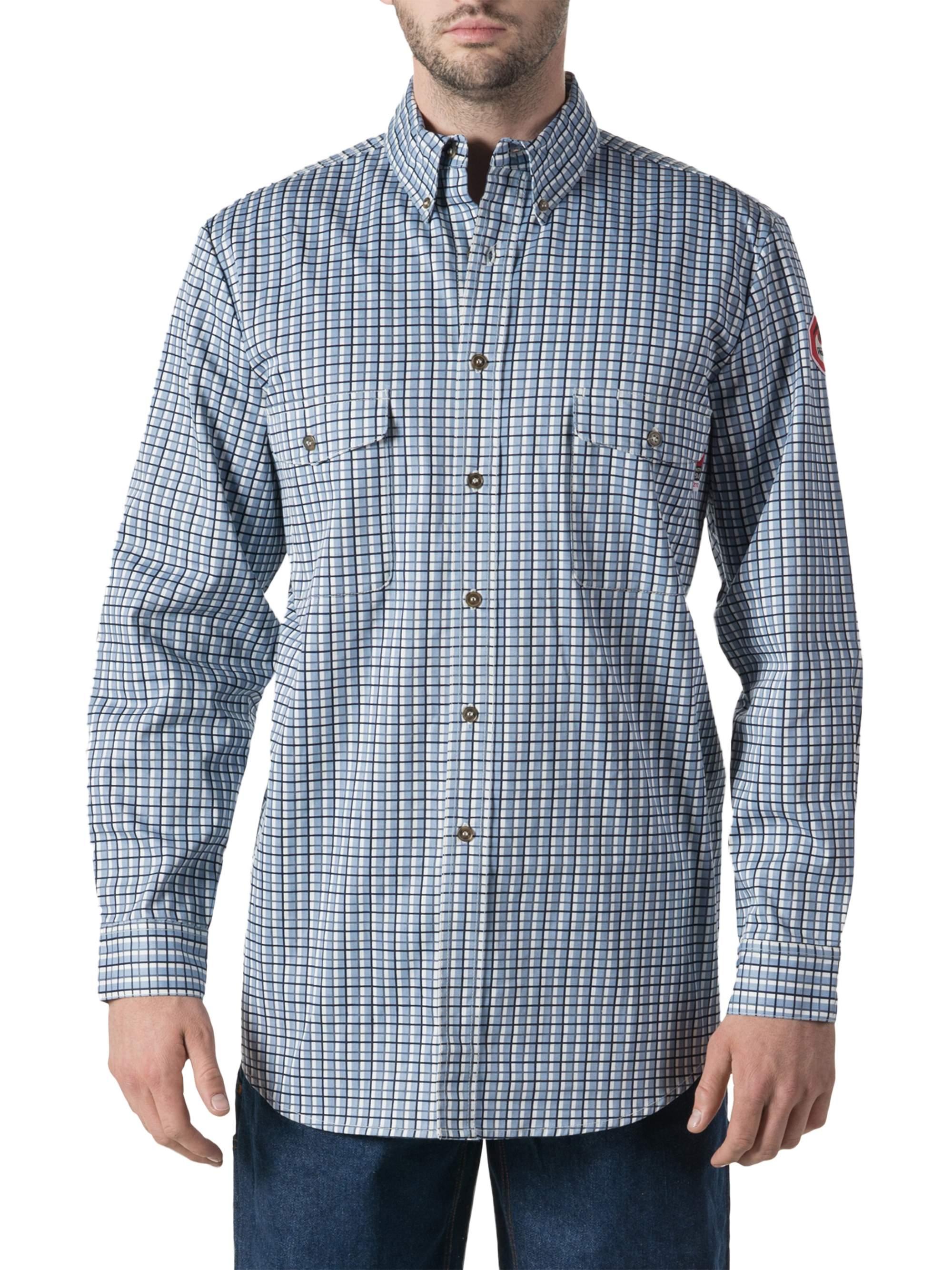 Men's Flame Resistant Plaid Work Shirt, HRC Level 2