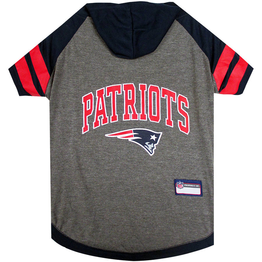 Pets First NFL New England Patriots Pet Hoodie Tee Shirt