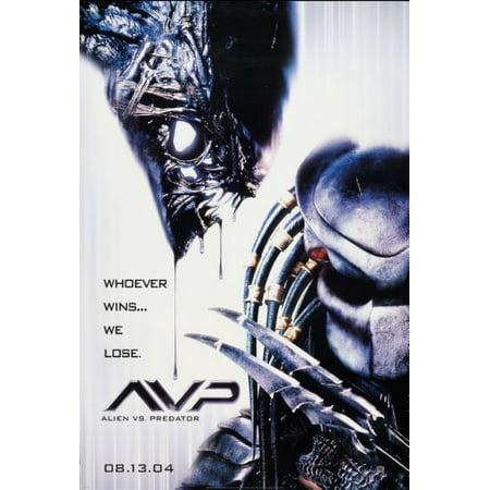 Alien Vs Predator Avp Movie Poster Metal Sign 8in x 12in Movie Tv