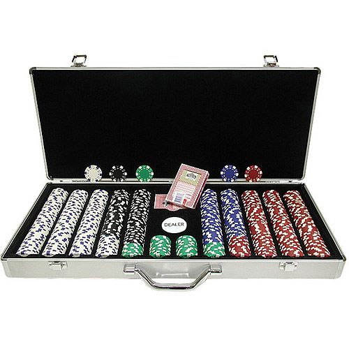 Trademark Poker 650pc 11.5g Dice Striped Chips with Aluminum Case by TRADEMARK GAMES INC