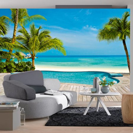 Brewster home fashions ideal decor pool 144 39 x 100 39 39 wall for Brewster wall mural