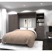 """Pur by Bestar 126"""" Queen Wall Bed Kit in Chocolate"""