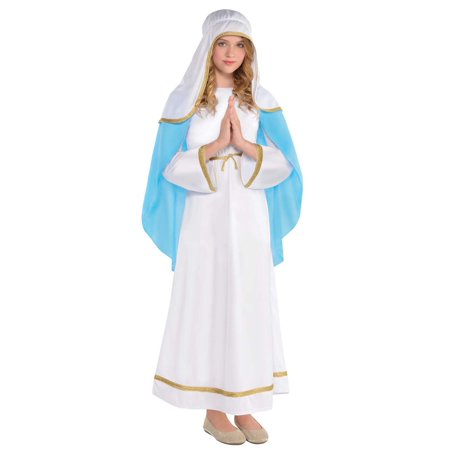 Bloody Mary Costume For Kids (Mary Girls Child Deluxe Christmas Nativity Scene Halloween)