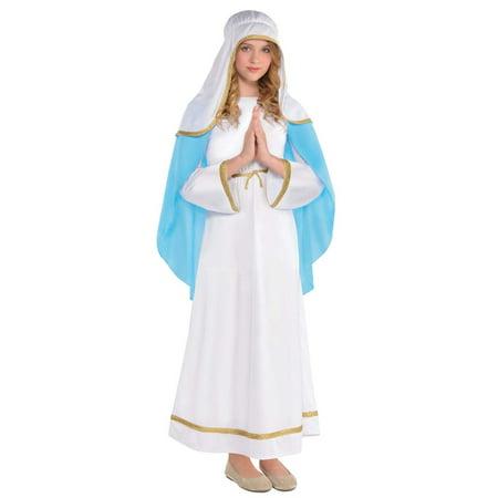 Children's Mary Poppins Halloween Costume (Mary Girls Child Deluxe Christmas Nativity Scene Halloween)