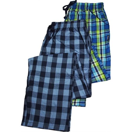 Mens Tall 2 Pack Woven Broadcloth Sleep Lounge Pants - Lighter Weight Pajama Pants for Men - 30 Day Guarantee - FREE SHIPPING - Cheap Onesies For Mens