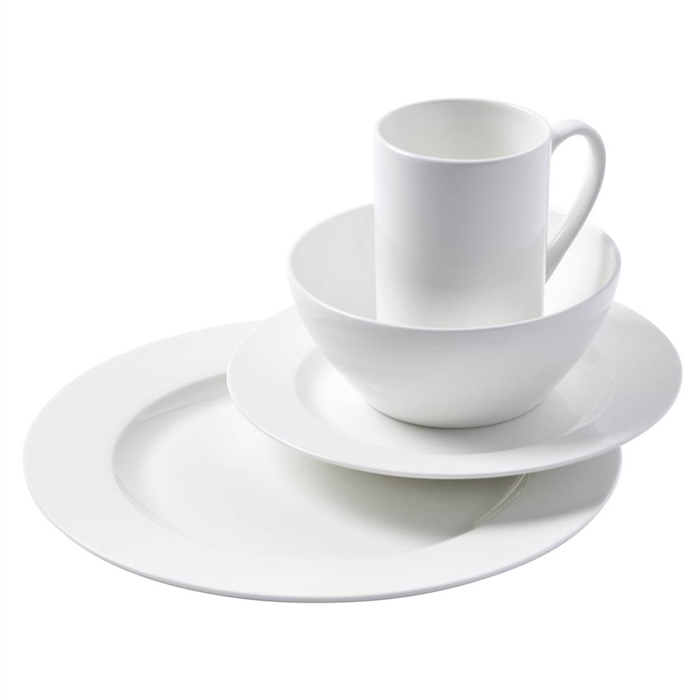 16 Piece Cascade Bone China Dinnerware Set  sc 1 st  Walmart & 16 Piece Cascade Bone China Dinnerware Set - Walmart.com