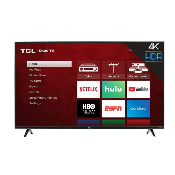 "TCL 43"" Class 4K UHD LED Smart Roku TV 4 Series 43S425 - Walmart.com - Walmart.com"