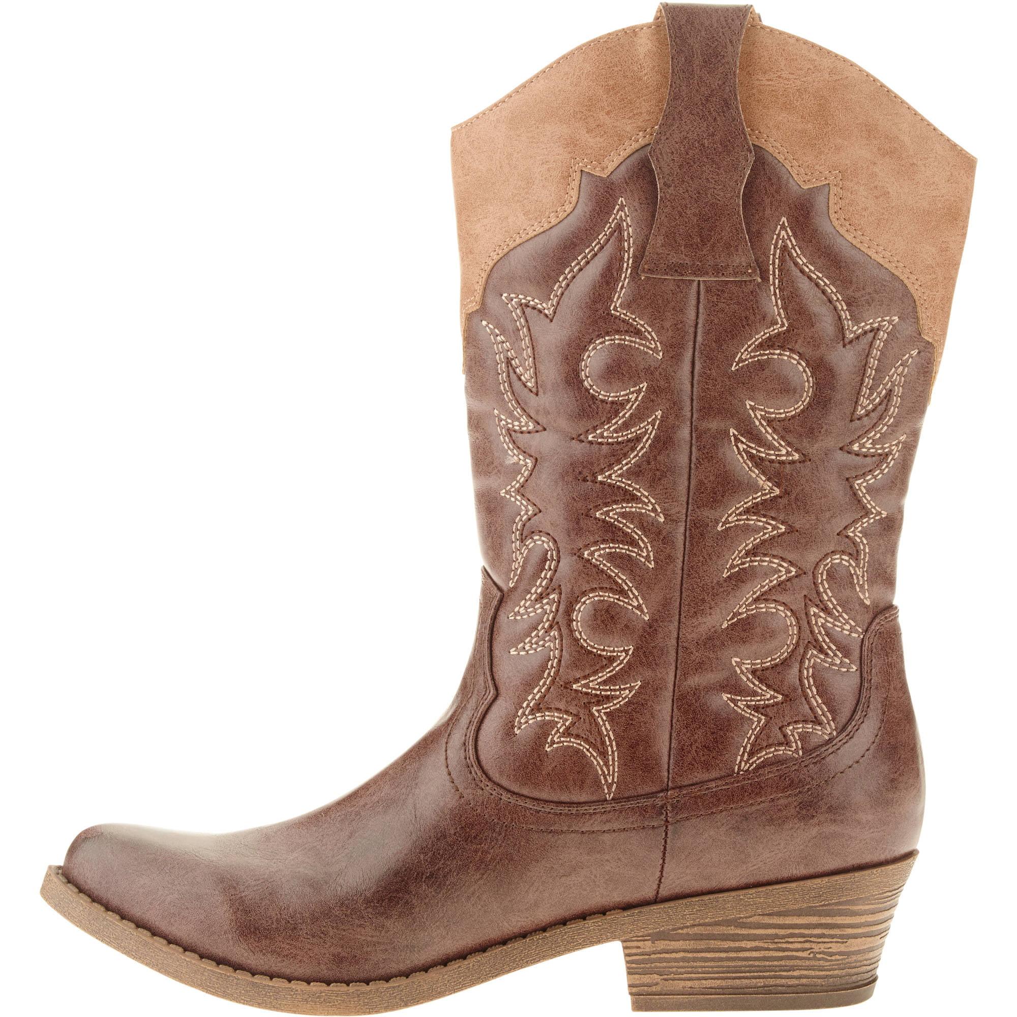 Faded Glory - Faded Glory Women s Fashion Cowboy Boot - Walmart.com e5e7ac33d3e