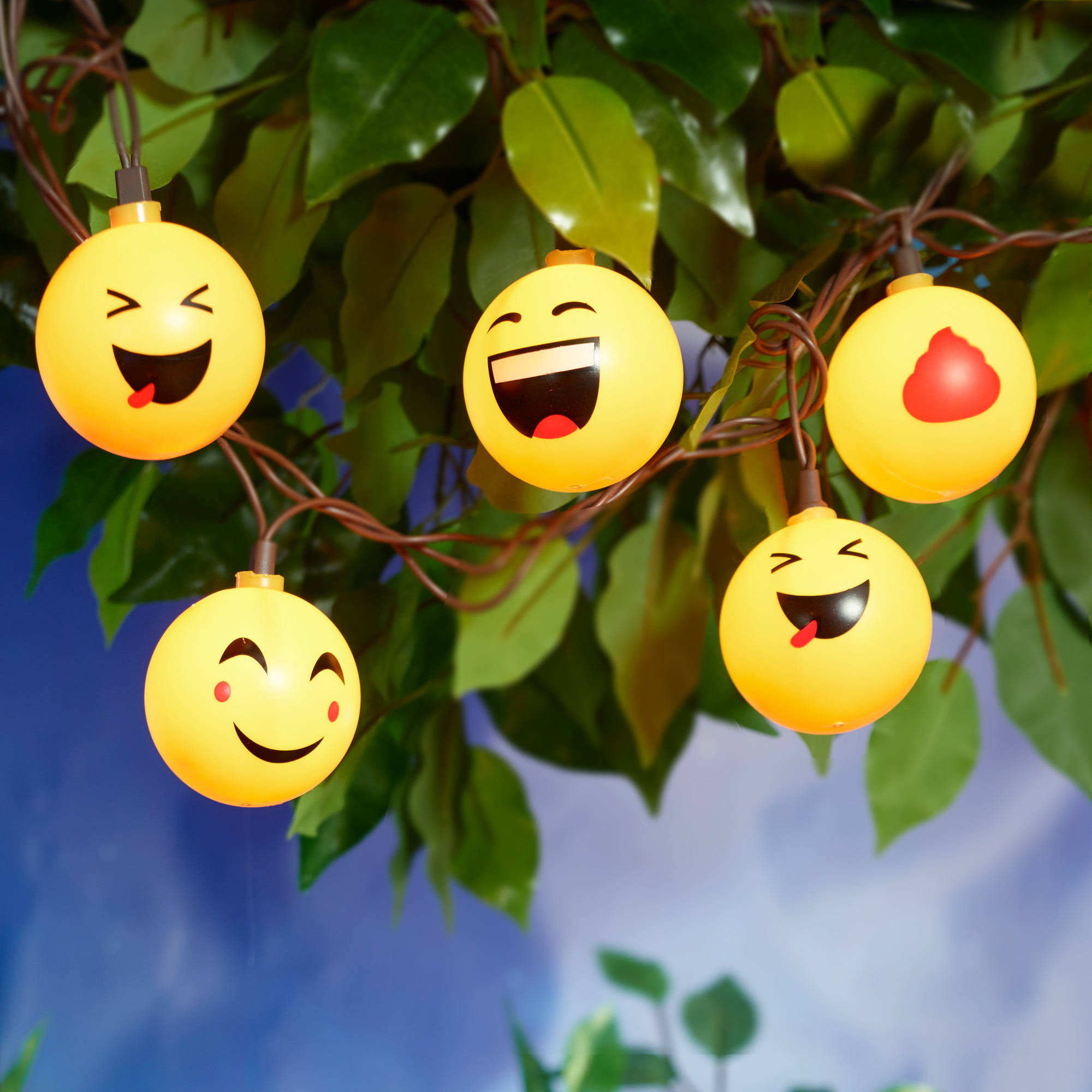 Mainstays Emoji String Lights