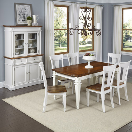 Home Styles Americana Kitchen and Dining Furniture Collection Antique White Finish