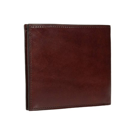Bosca Old Leather Collection - Eight-Pocket Deluxe Executive Wallet w/ Passcase Dark Brown