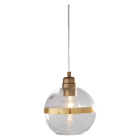 MoDRN Glam Clear Glass Pendant Light Antique Brass - Kichler Antique Brass Pendant