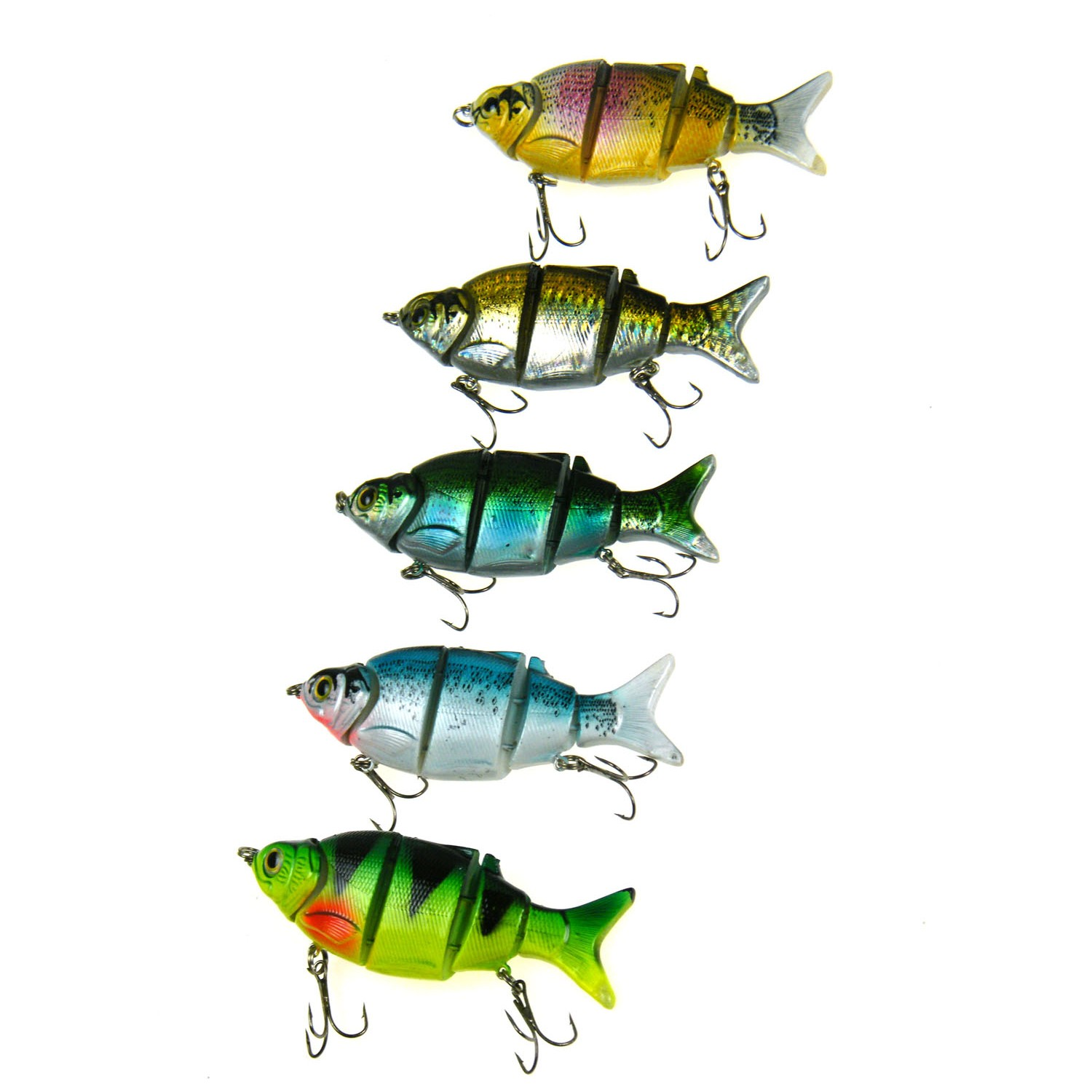 5Pcs set Hard Lures Baits 10cm 25g 3D Eyes Jointed 5 segments Sections Lifelike Artificial Lures Fishing Lure With... by