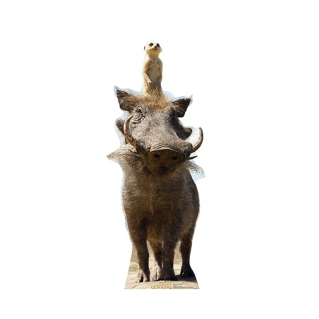 Timon and Pumbaa (from Disney's The Lion King) Cardboard Stand-Up, 53in (Lion Cardboard Stand)