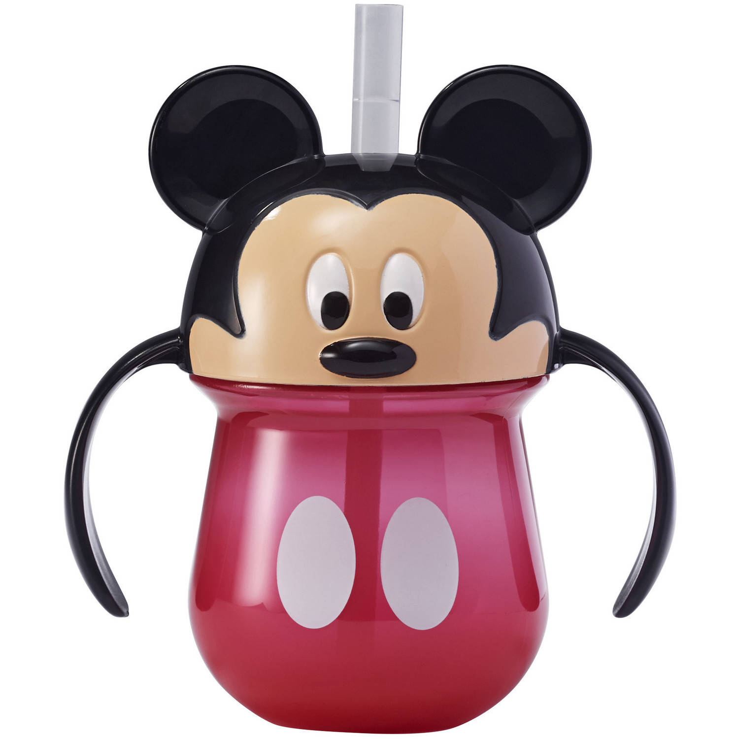 The First Years Disney Baby Mickey Mouse 7-oz Straw Cup with Handles, BPA-Free