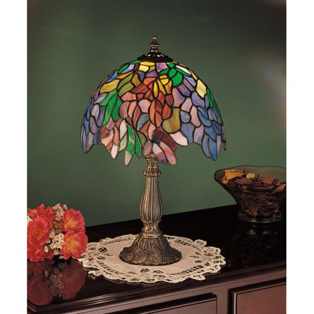 Meyda Tiffany Handkerchief (Meyda Tiffany 26587 Stained Glass / Tiffany Accent Table Lamp from the Floral Trellis Collection)
