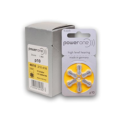 PowerOne Hearing Aid Batteries Size 10, PR70 (120 Batteries) + 2 Cell Battery Keychain Kit