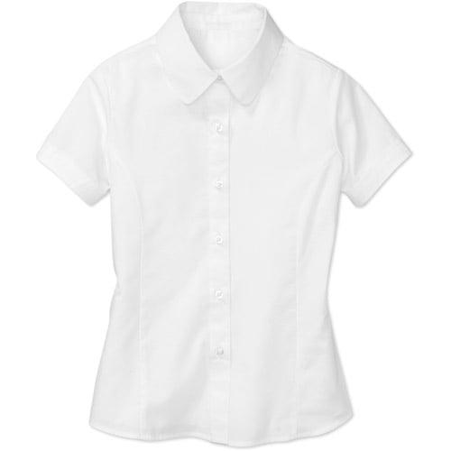 George - Girls' Short-Sleeve Poplin Blouse