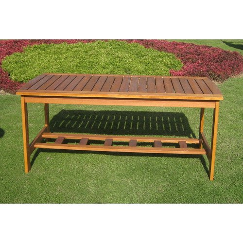 International Caravan Royal Tahiti Outdoor 2 Tier Patio Table