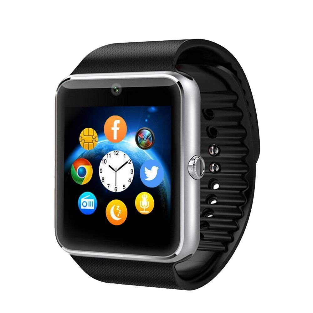 Smartwatch GT08 Bluetooth Smart Watch Phone With SIM Card Solt Anti-lost Call reminder Phone Mate (Black)