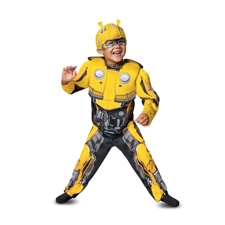 Bumblebee Muscle Toddler Halloween Costume - Transformers (Toddler Costumes)