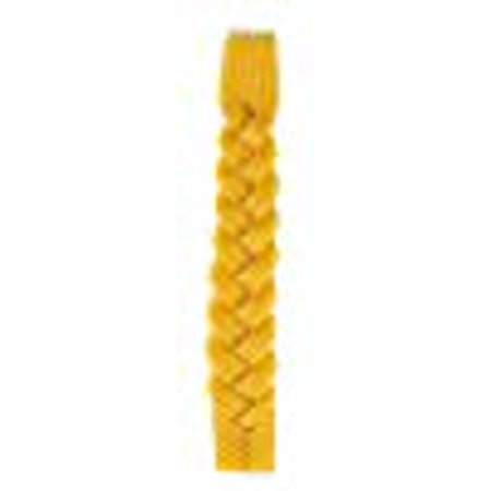 Ner Mitzvah Braided Beeswax Havdalah Candle - Hand Dipped Bees Wax with Extra Thick Rounded Braid - Shabbat Judaica Gift