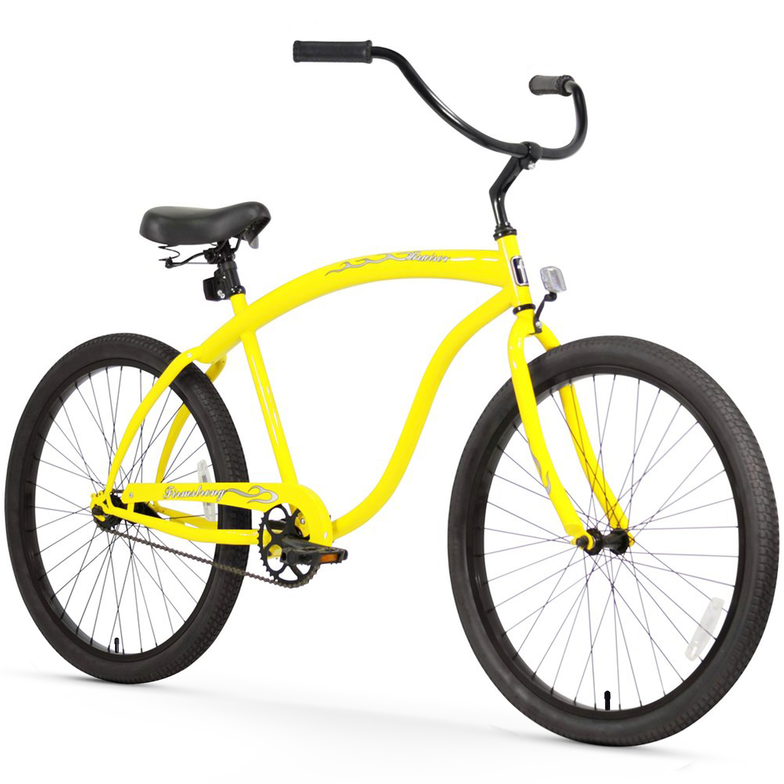 "Firmstrong 26"" Men's Bruiser Beach Cruiser Bicycle, 1, 3 and 7 Speed"