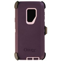 OtterBox Defender Series - Protective case for cell phone - rugged - polycarbonate, synthetic rubber - purple - for Samsung Galaxy S9+