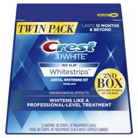 Crest 3D White Professional Effects Whitestrips Teeth Whitening Strips Kit, 40 Treatments, Twin Pack