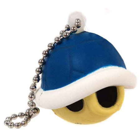 Super Mario Blue Shell Keychain [Foam] (Blue Turtle Shell Mario)