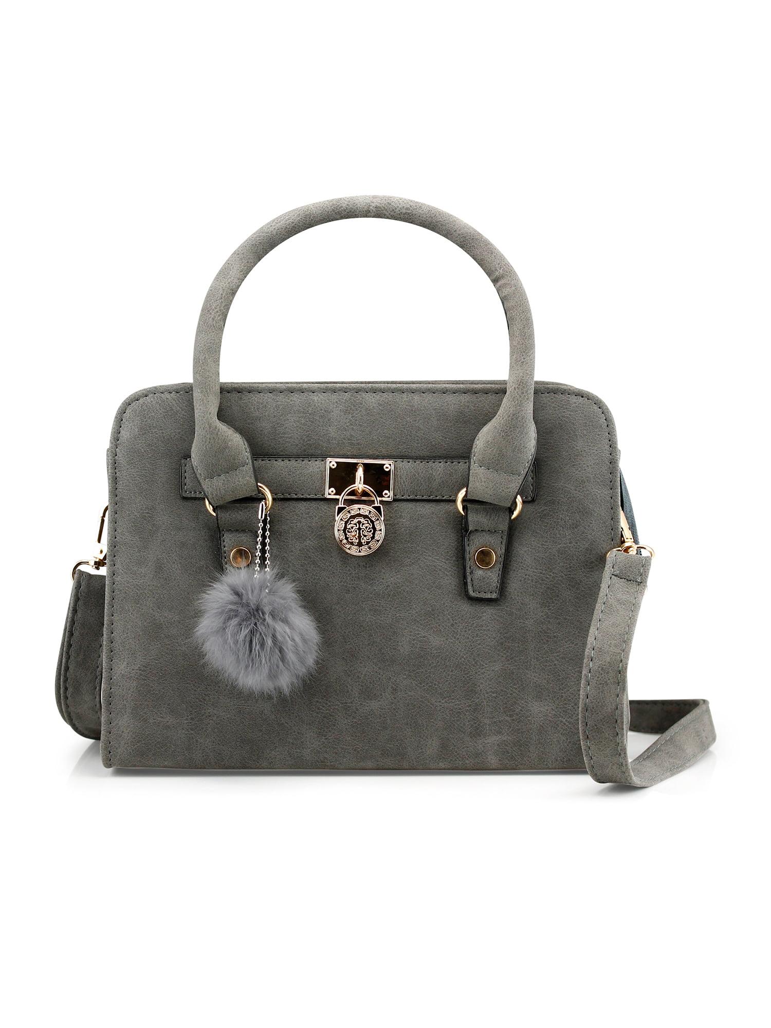 Lady Women Lock Faux Leather Tote Hobo Shoulder Bag Cute Purse fur...