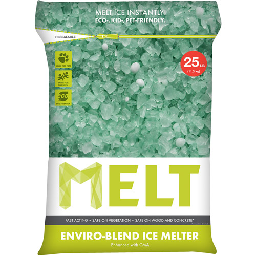 Snow Joe MELT Premium Environmentally-Friendly Blend Ice Melter w/ CMA (25 lb. Resealable Bag) – MELT25EB