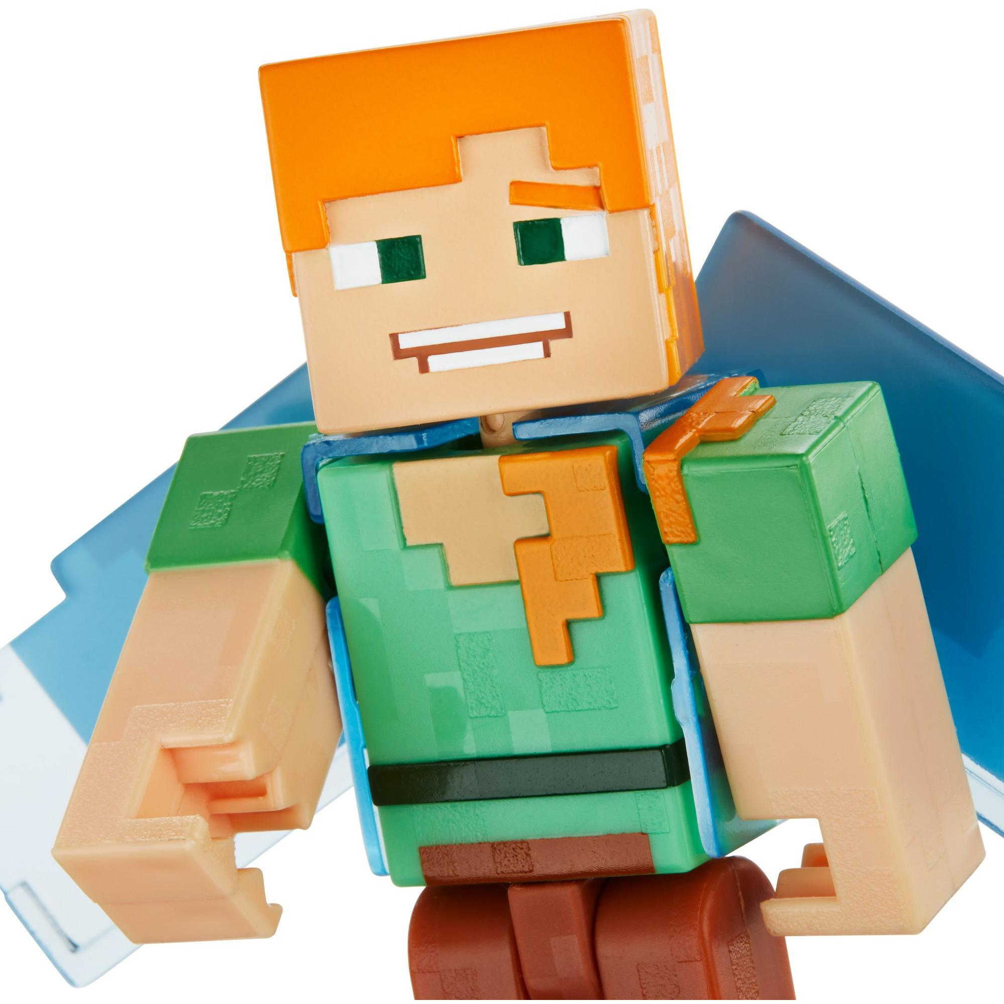 2019 Minecraft Alex Elytra Comic Maker Book Action Figure Damaged Packaging